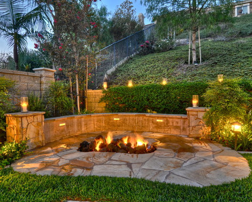 Fire Pit On A Slope Home Design Ideas Pictures Remodel