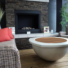 Contemporary Fire Pits by DreamCast Design and Production