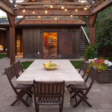 Rustic Patio by LMJ Builders LLC/Craig Johnson Construction LLC