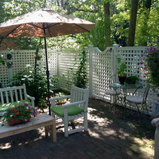 Traditional Patio by SUBURBAN FENCE
