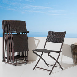 6pc Perfect Folding Chair Set - The Perfect Folding Chair Set with Utility Cart and Protective Cover gives you versatility and elegance in outdoor seating and entertaining.