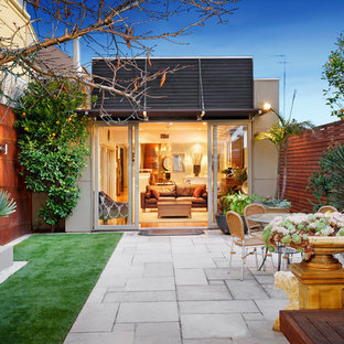 Unbedeckter Moderner Patio in Melbourne