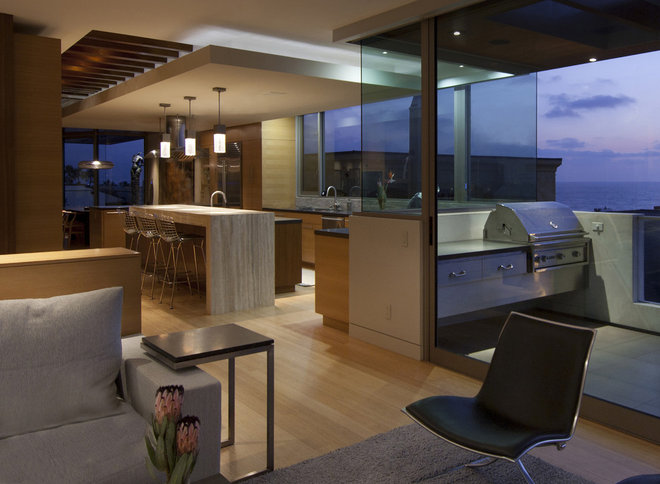 Contemporary Patio by Michael Lee Architects