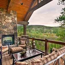 Traditional Patio by Pinnacle Mountain Homes