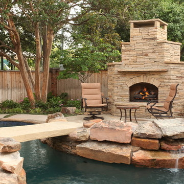 A Cocktail Pool and Spa with a Fitness Area in South Tulsa