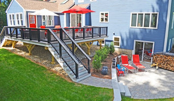 A deck & patio in Dunstable, MA, that make the perfect pair!