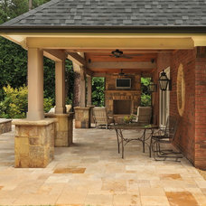 Traditional Patio by Cynthia Karegeannes, Registered Architect