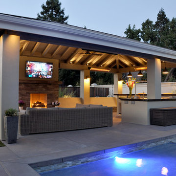 a Pavilion with Outdoor Kitchen