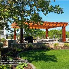 Farmhouse Patio by Anderson Design / ErosionZ.  Minnesota Landscape.