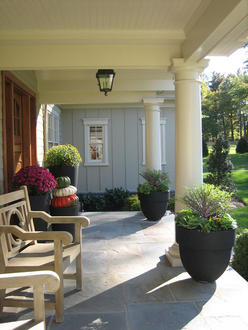Flagstone front porch houzz for Bluestone front porch