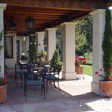 Mediterranean Patio by Simmonds & Associates, Inc.