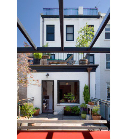 Eclectic Patio by Abelow Sherman Architects LLC