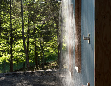 Accord, NY Passive House Outdoor Shower