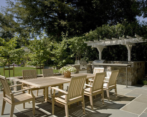 Inspiration For A Timeless Patio Kitchen Remodel In San Francisco With A  Pergola