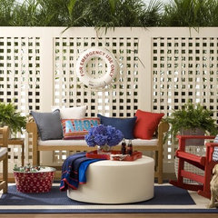 eclectic patio by Allison Lind Interiors