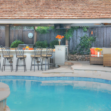 Alamo Outdoor Kitchen and Living Space