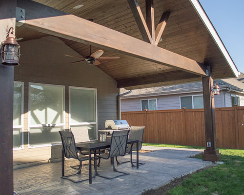 Gabled Patio Cover Home Design Ideas Pictures Remodel
