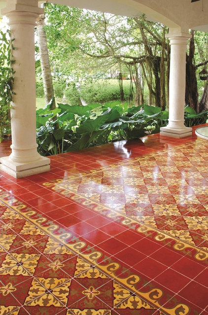 mediterranean patio by Avente Tile