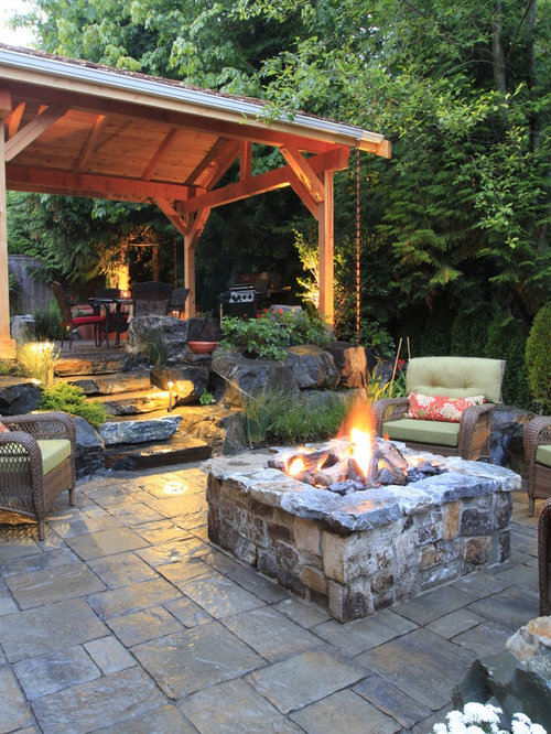 backyard fire pit | houzz - Patio Designs With Fire Pit Pictures