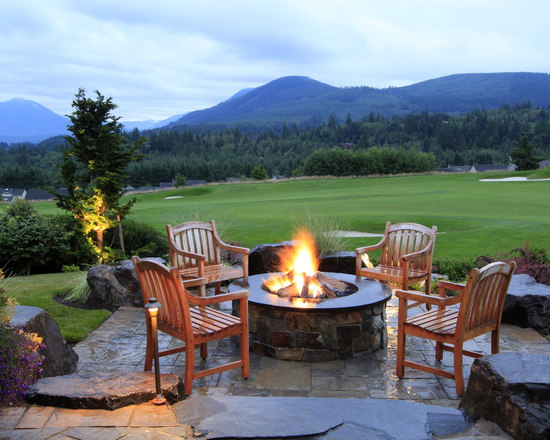 backyard fire pit ideas   houzz - Firepit And Patio Designs