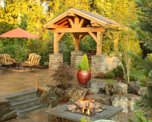 Inspiration For A Timeless Patio Remodel In Seattle With A Pergola