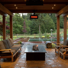Traditional Patio by Alderwood Landscape Architecture and Construction