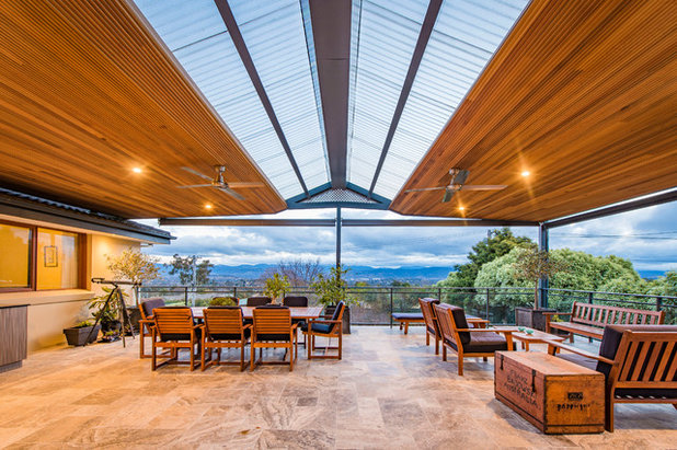 Contemporary Patio by Canberra Decks