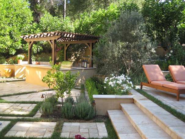 Mediterranean Patio by D'Urso Landscape Design