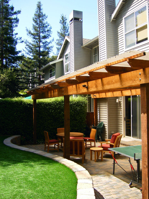 Inspiration For A Contemporary Backyard Patio Remodel In San Francisco With  A Pergola