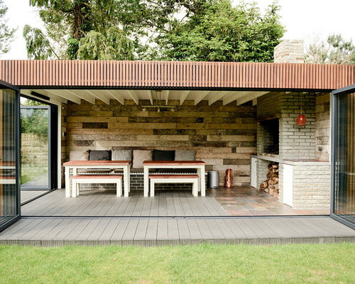 Braai ideas photos houzz for Garden outlay ideas