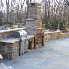 Traditional Patio by King Of The Block Masonry