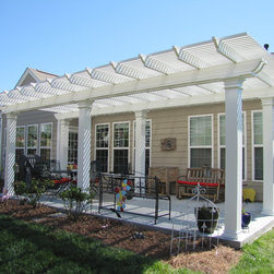 Aluminum Pergola - Coolbreeze aluminum pergola provided by Nexan building Products.