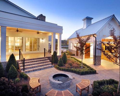 Farmhouse Nashville Patio Design Ideas Remodels Photos