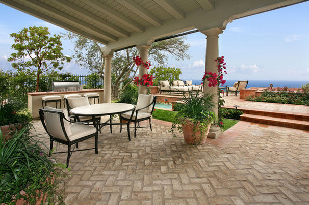 Beach Style Patio by AMS Landscape Design Studios, Inc.