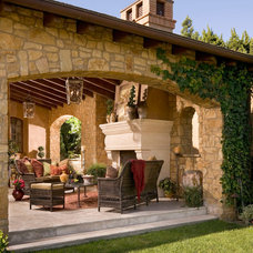 Mediterranean Patio by Brion Jeannette Architecture