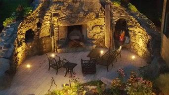 Ancient Fireplace Landscape