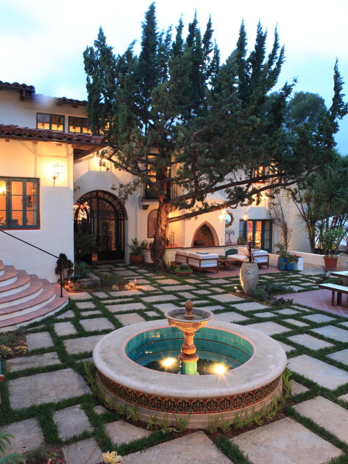 spanish pavers home design ideas pictures remodel and decor. Black Bedroom Furniture Sets. Home Design Ideas