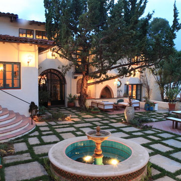 Andalusian Courtyard Fountain and Lounge
