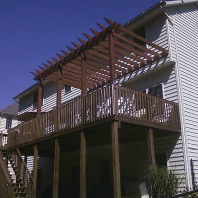 Adding On To An Existing Deck http://www.houzz.com/projects/197543/Andrew-Circle-Pergola/ls=4