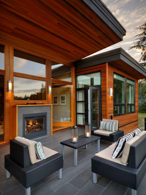 Indoor Outdoor Fireplace Houzz