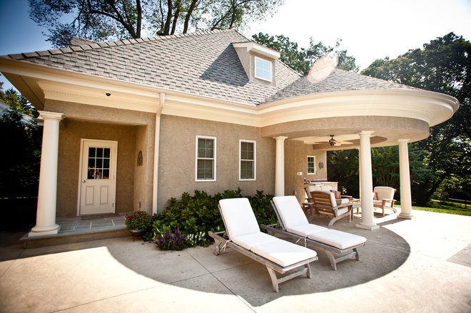 Traditional Patio by Chase Building Group