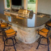 Wrap Around Granite Outdoor Kitchen