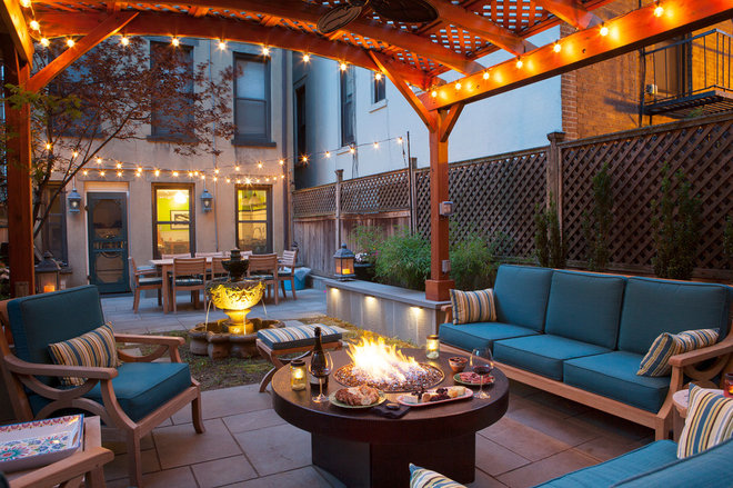 Transitional Patio by Forever Redwood