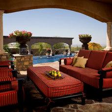 Mediterranean Patio by Bianchi Design