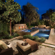Mediterranean Patio by Andrew R. Abrecht Photography