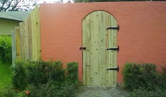Arna's custom gate and entertainment center