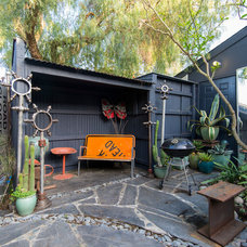 Eclectic Patio by Calista Chandler Photography