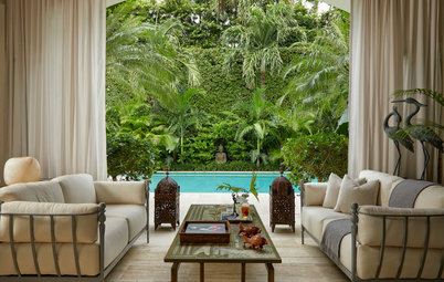Luxe Loggia and an Inviting Pool Create a Backyard Paradise