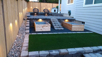 Artificial Turf and retaining wall block design