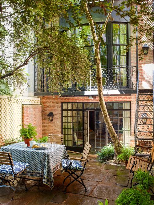 Craftsman Patio Container Garden Idea In New York
